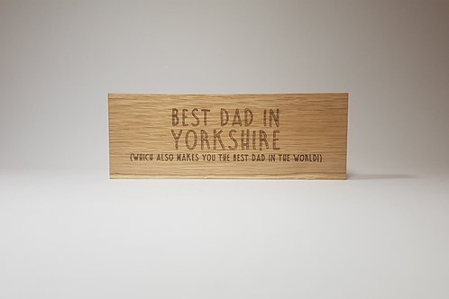 Father's Day solid oak 'blockies'