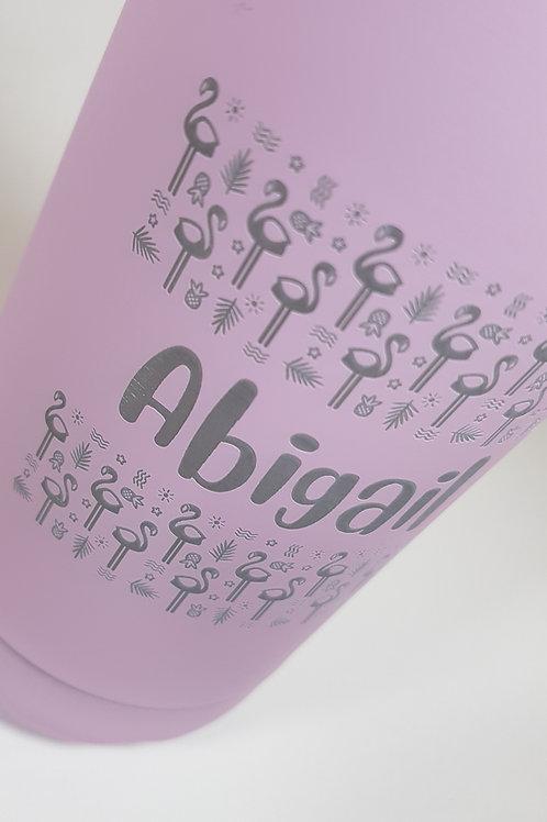 Insulated bottle - Flamingo pattern