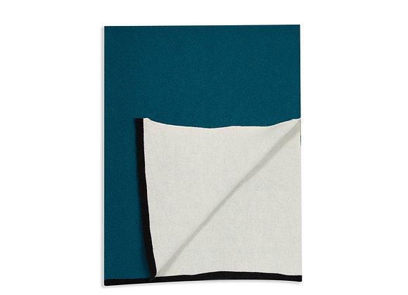 Plaid double jeu - Bleu Sarah 130 x 170 cm