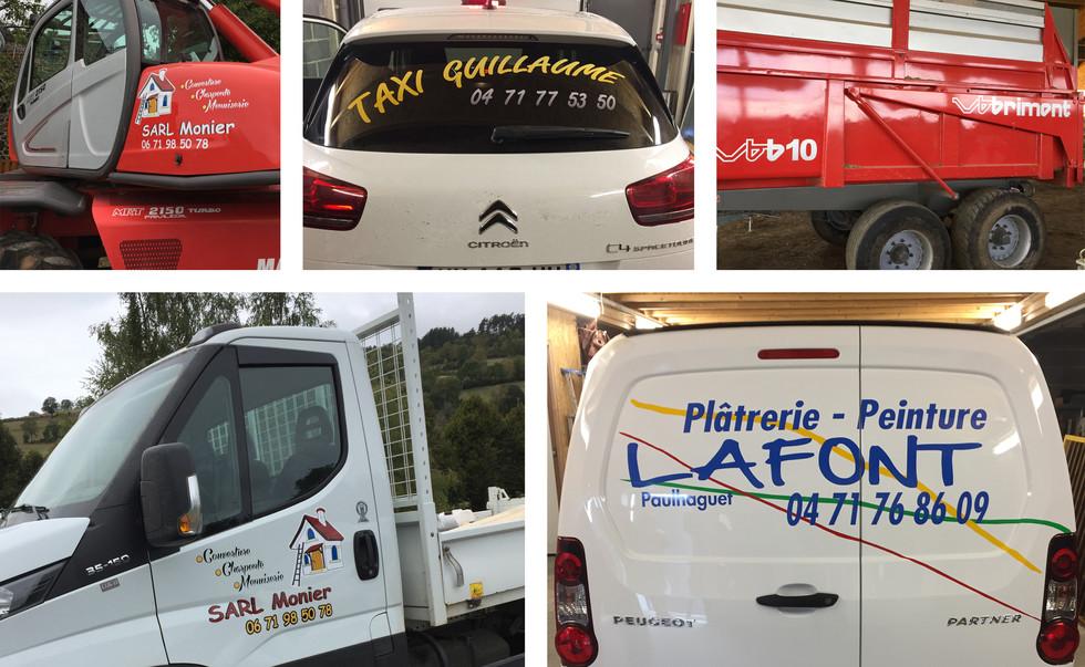 4 artisan taxi marquage vehicule panneau