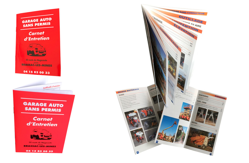 4 brochure garage depliant automobile ed