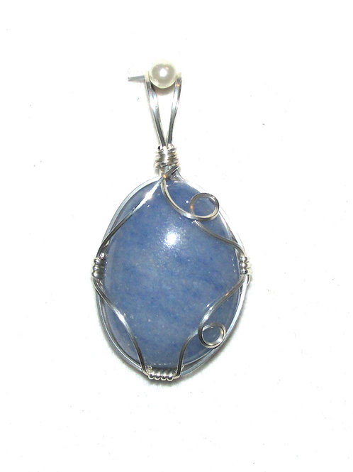 Blue Quartz Pendant