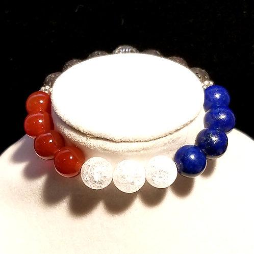Red, White, & Blue Diffuser Bracelet -Small