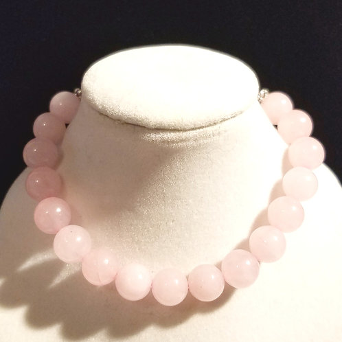 Rose Quartz Diffuser Bracelet -Large