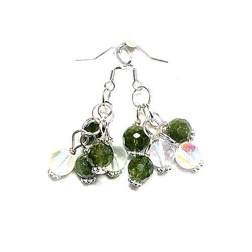 Peridot/Angel Aura Quartz Earrings