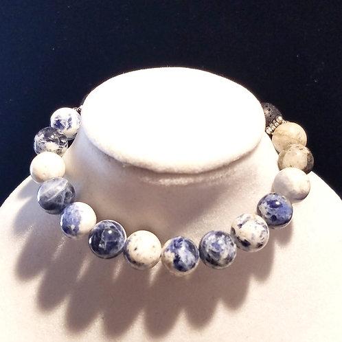 Sodalite Diffuser Bracelet - Medium