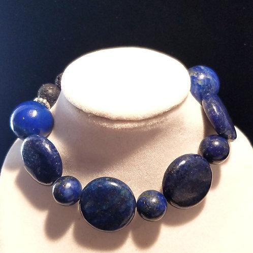 Lapis Lazuli Diffuser Bracelet - Medium