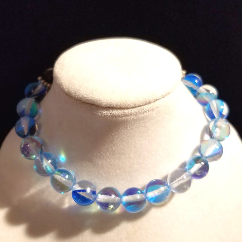 Aqua Aura Quartz Diffuser Bracelet -Large