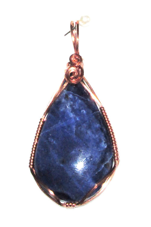 point sodalite pendant il blue au listing crystal necklace gemstone