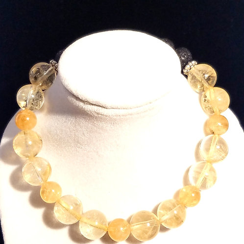 Citrine Diffuser Bracelet -Large