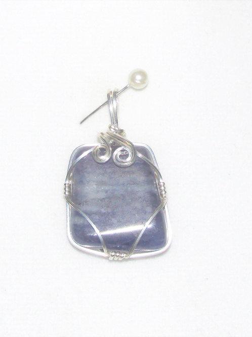 Blue Iolite Pendant