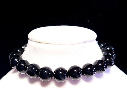 Black Tourmaline Diffuser Bracelet -Medium