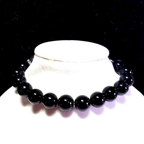 Black Onyx Diffuser Bracelet -Medium
