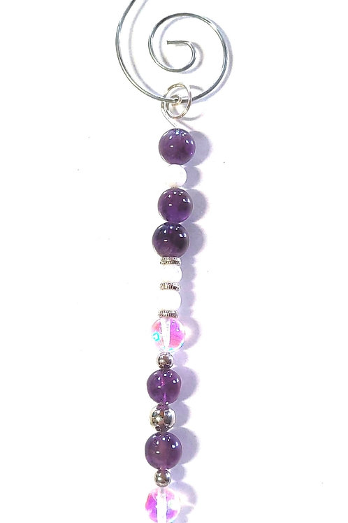 Amethyst Icicle Ornament