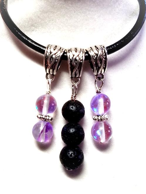 Lavender Aura Quartz Diffuser Pendant
