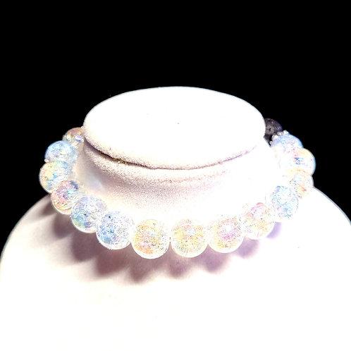 Crackle Quartz Diffuser Bracelet - Medium