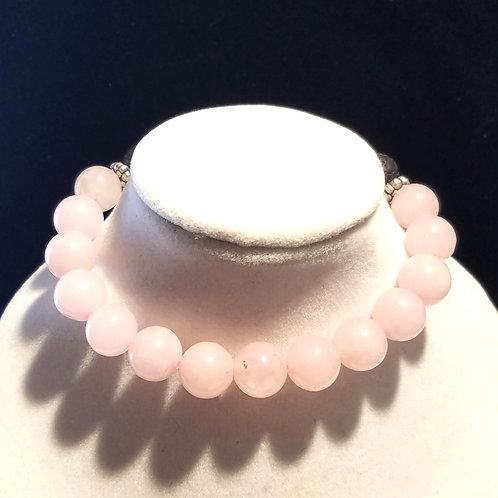 Rose Quartz Diffuser Bracelet -Medium