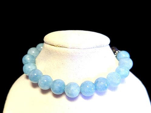 Aquamarine Diffuser Bracelet - Medium