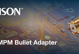 """Cinch Connectors -  SMPM Series with a 0.210"""" Bullet Adapter"""