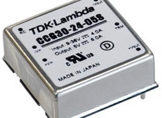 30W 1 inch by 1 inch DC-DC Converters Have 4:1 Input Range