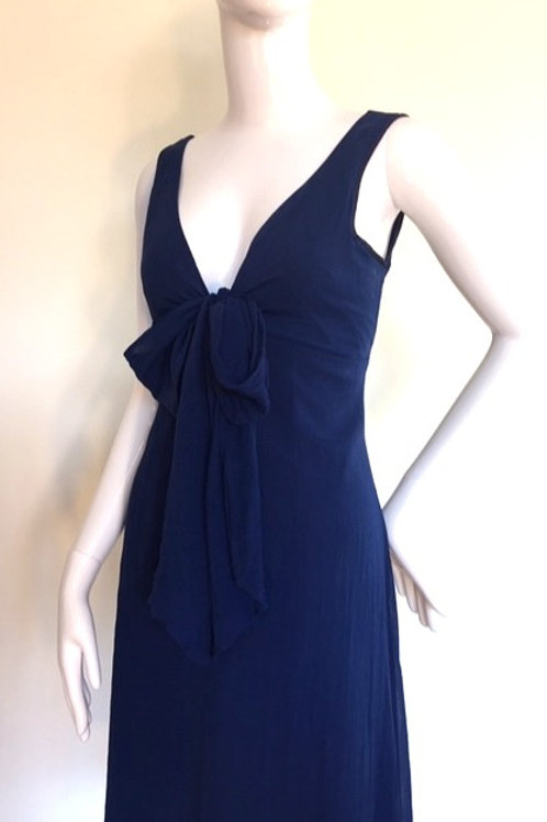 Vintage silk evening dress - Medium