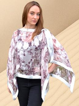 Zero Waste Silk Collection, Whisper pink + silver