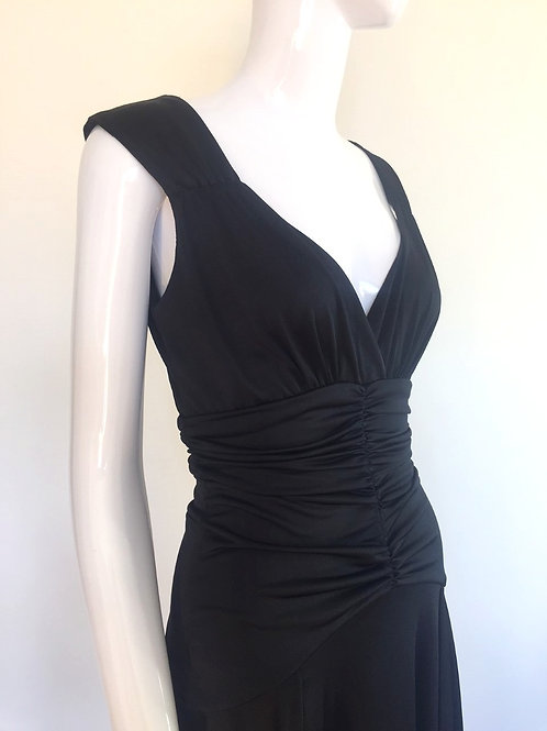 Black Vintage '80's Evening Dress - Medium