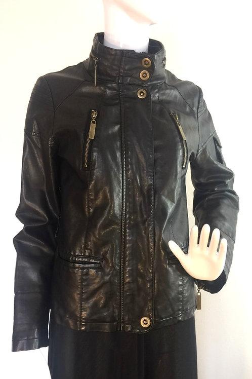 Vintage '90's Vegan Leather Jacket - Small