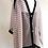 Thumbnail: Silk Chiffon Wrap - Pink Stripe + Black