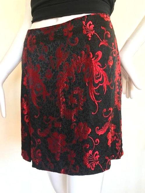 Vintage '90's Brocade Skirt - Small