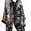 Thumbnail: Silk Chiffon Wrap - Eclectic Purple print + Black