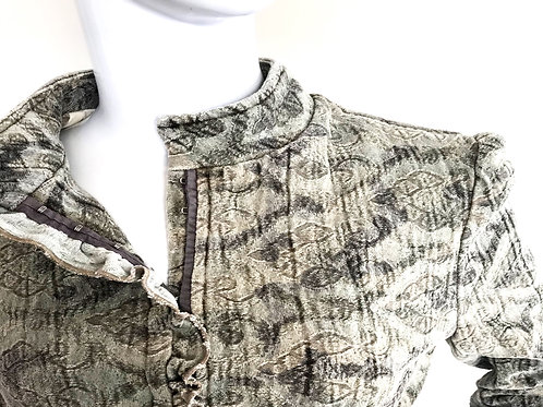 Vintage 90's Tapestry Military Jacket - Small