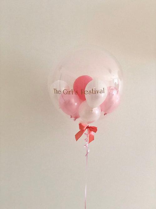 ヘリウムガス入りクリアバルーン/インサイダーバルーン9個