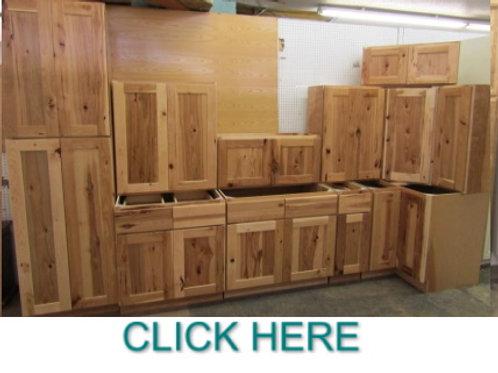 10'x12' Hickory Shaker Kitchen  Cabinet Set