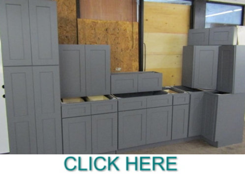 11pc. 10x12' Platinum Shaker  Kitchen Cabinet Set
