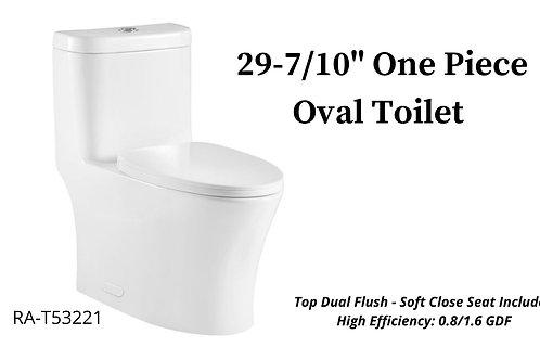 "29-7/10"" One Piece Oval Toilet"