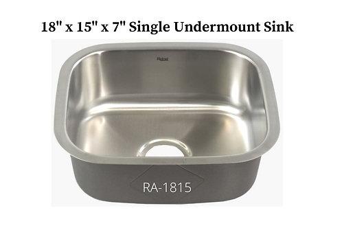 18g Stainless Single Undermount Sink