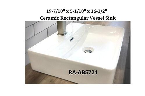 Ceramic Undermount Rectangular Vessel Sink