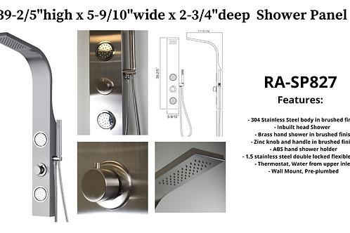 """63"""" x 7-6/7"""" x 2-3/4"""" Shower Panel w/ 2 ABS massage Jets"""