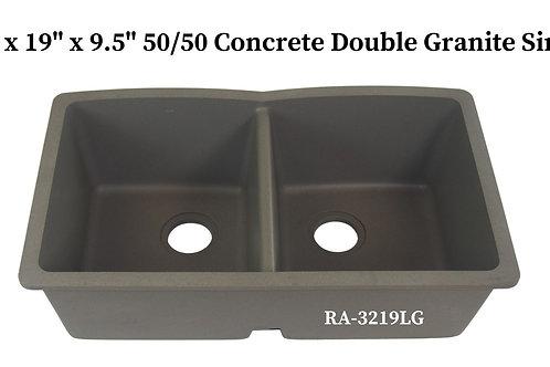 50/50 Concrete Double Granite Sink