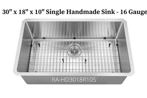 16g Stainless Single Handmade Sink