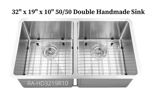 16g Stainless Double 50/50 Handmade Sink