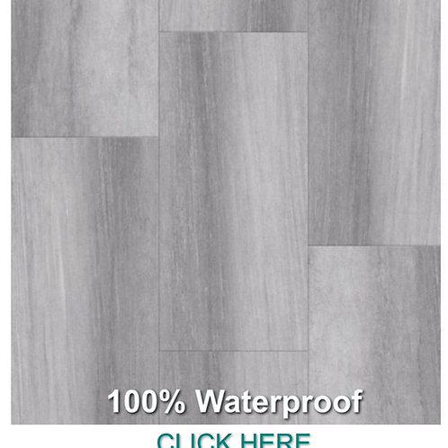 "100-5 Shale Grey 12""x24"" Rigid Core Pro Series Vinyl Click 100% Waterproof"
