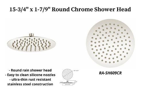 "15-3/4"" Chrome Round Rain Shower Head"