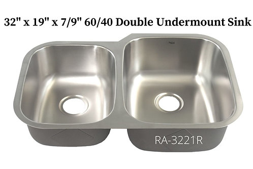 18g Stainless Double 40/60 Undermount Sink