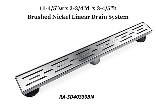 """11-4/5"""" Brushed Nickel Linear Drain System"""