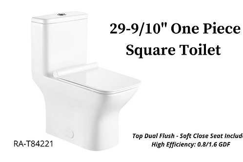 "29-9/10"" One Piece Square Toilet"