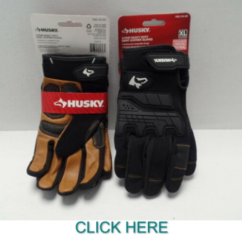 2 Pair of Husky Heavy Duty Goat Leather Gloves