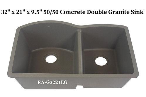 60/40 Concrete Double Granite Sink