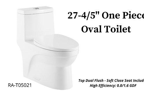 "27-4/5"" One Piece Oval Toilet"